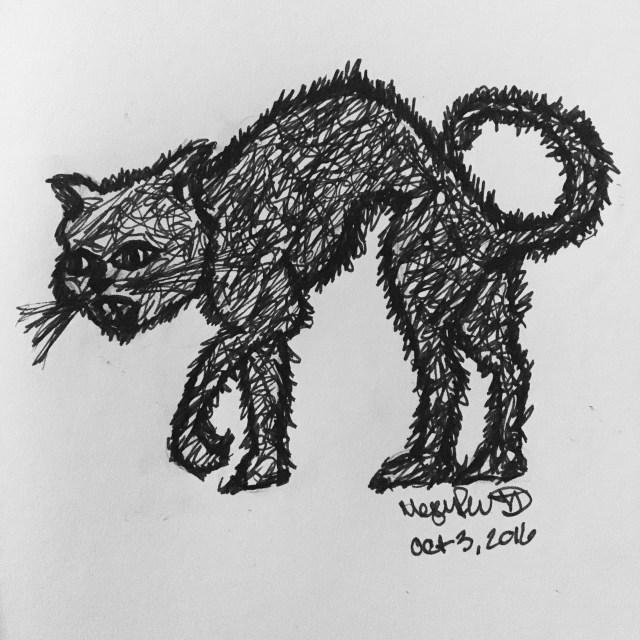 grungy cat