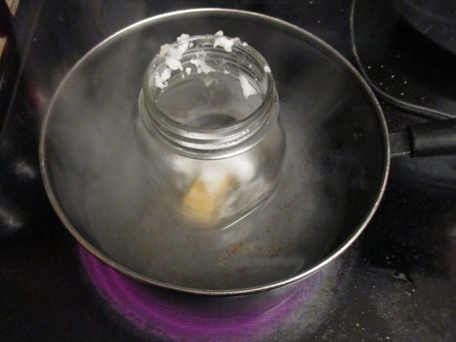 melting wax and oil