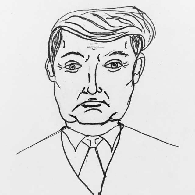 Inktober day 20 - crappy Trump drawing