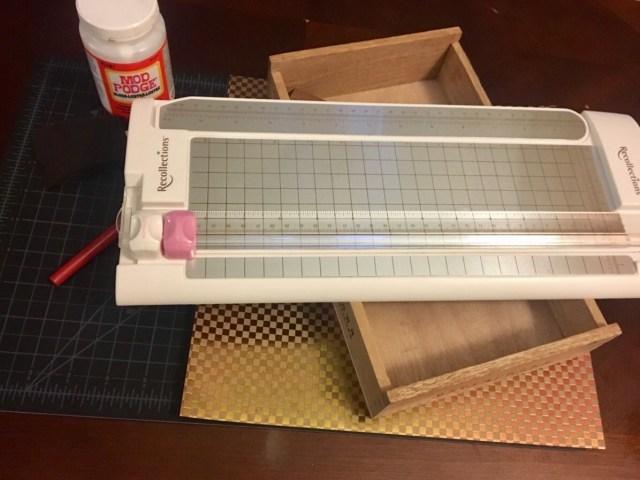 Cigar box organizer supplies