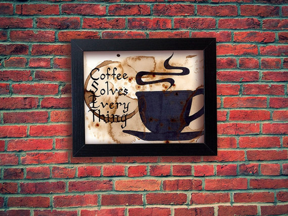 Coffee painting gift