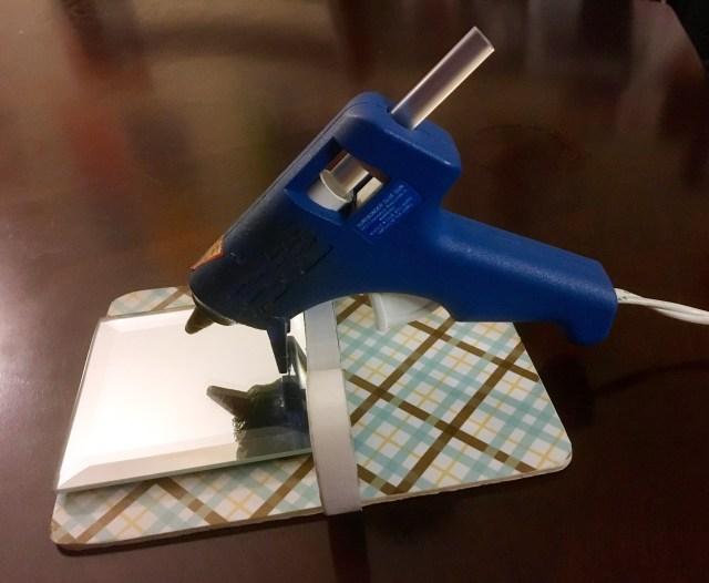 DIY glue gun holder