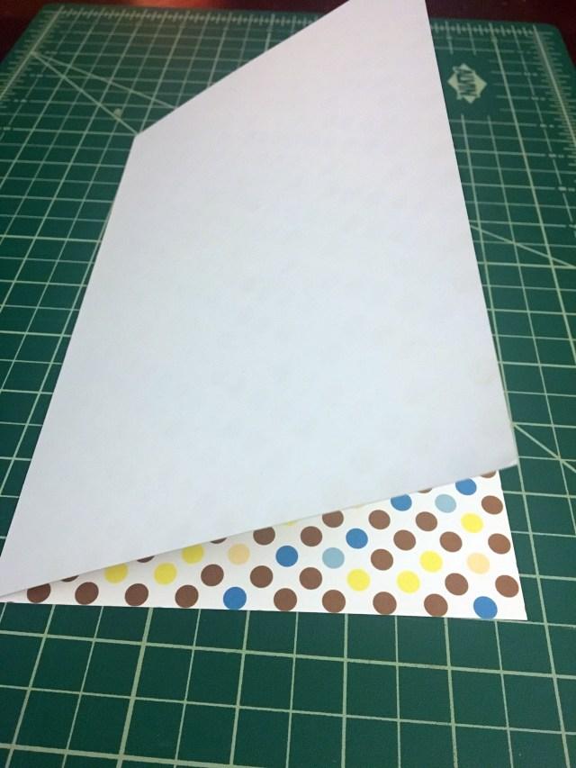 fold 1 for DIY gift card holder