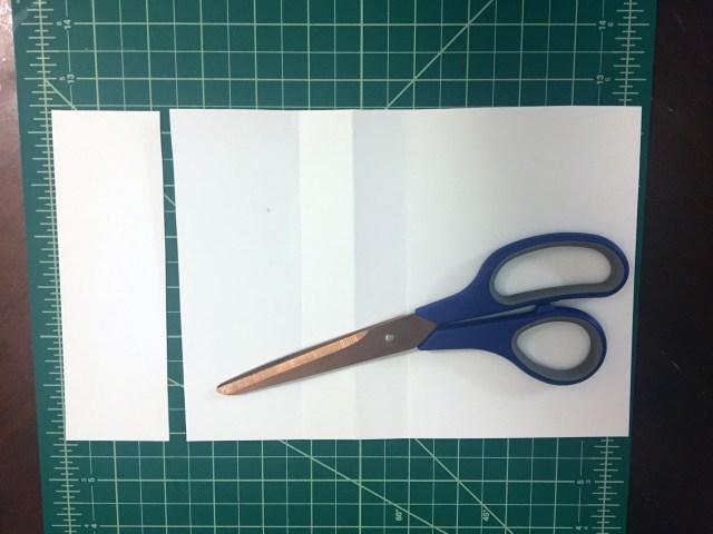 shortened paper envelope