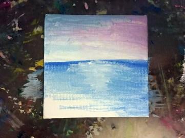 beach painting tutorial