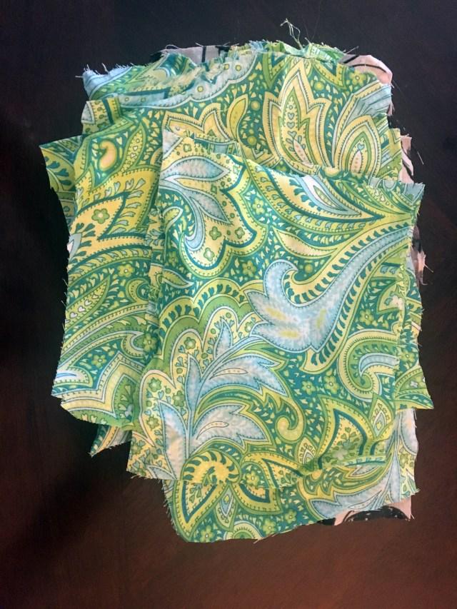fabric scrap sheets