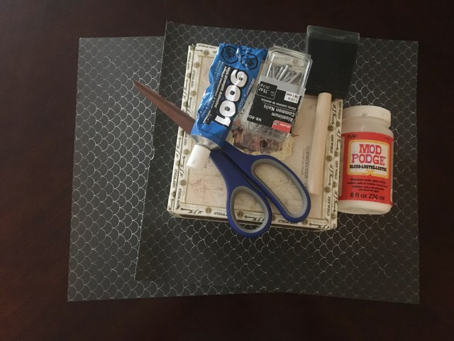 supplies for making diy sewing box
