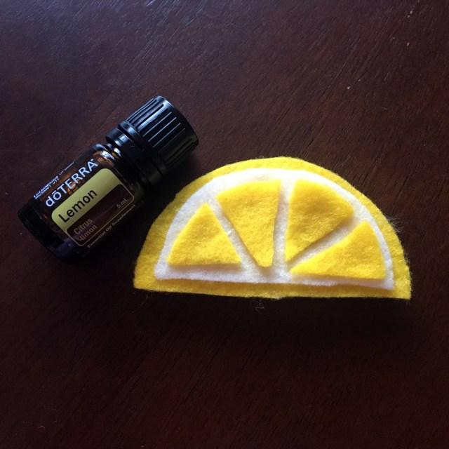 DIY lemon car air freshener