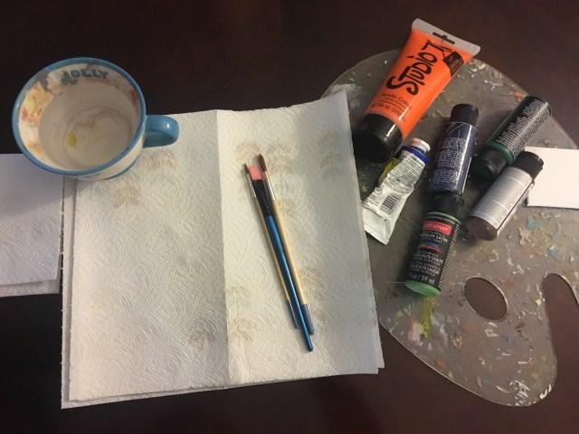 mini painting supplies