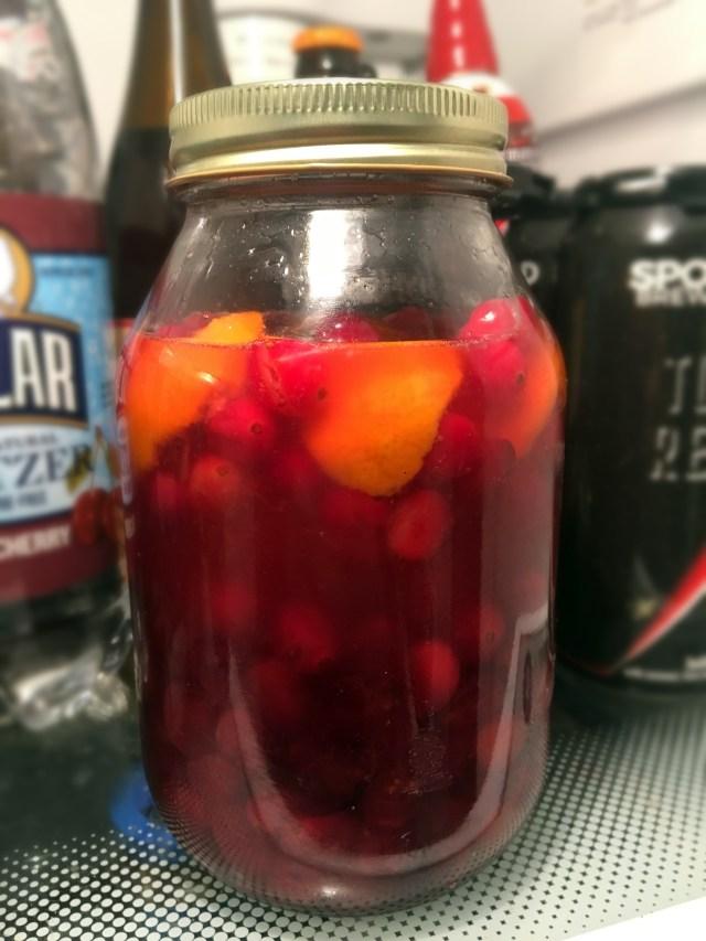 homemade cranberry orange vodka