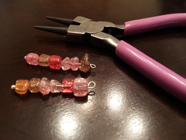 bar earrings gemstones