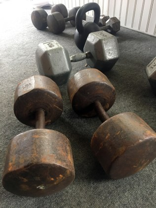 rusty dumbbells