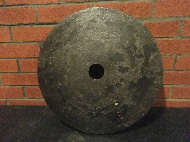 weight plate after rust removal