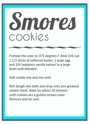 smores cookies recipe