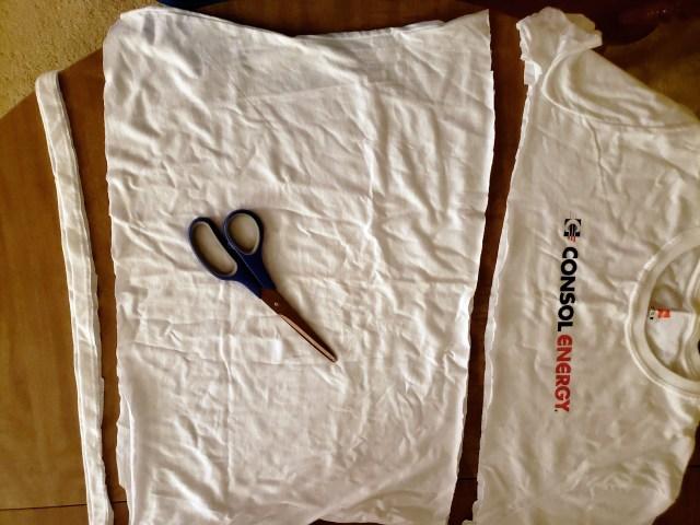 t-shirt scarf making
