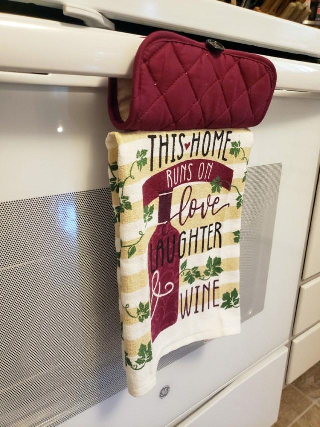 hanging stove towel