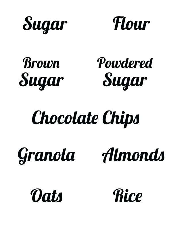 supplies to print your own kitchen labels