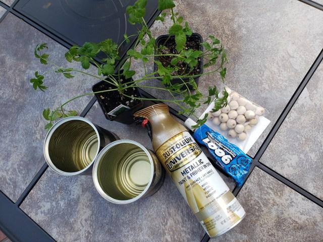 diy tin can planter supplies