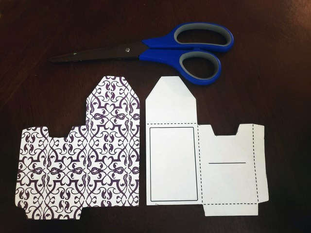 gift card scrapbook paper template