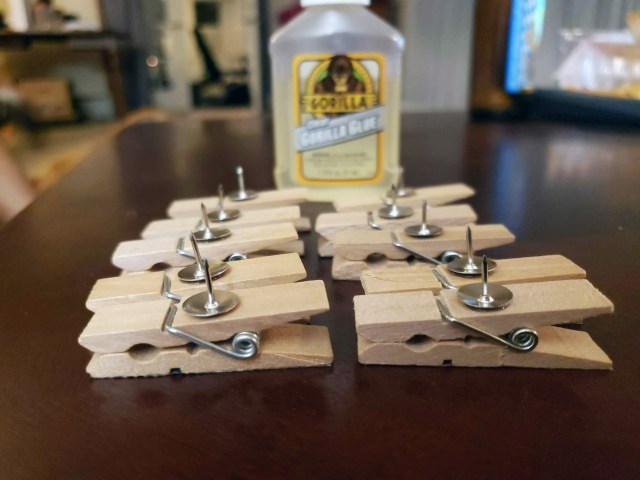 thumb tack clothespins