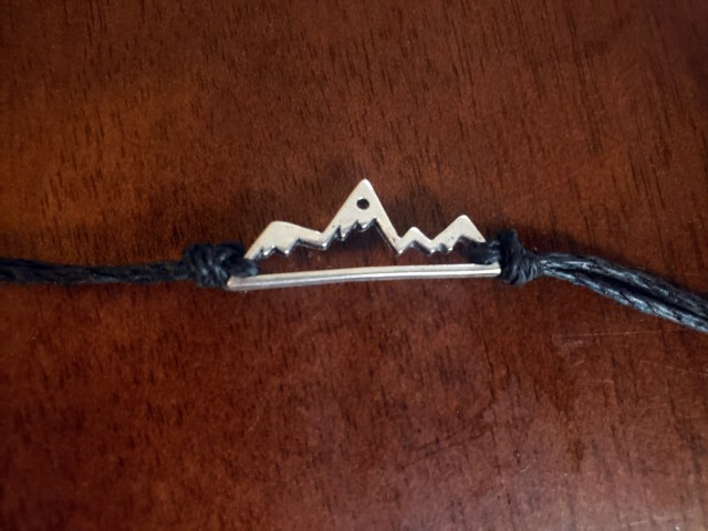 mountain charm embroidery bracelet