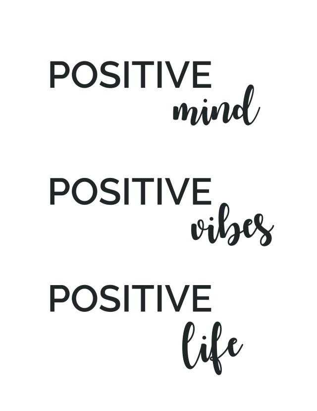 positive quote poster 8.5x11