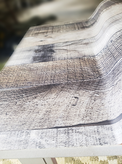 applying wood textured contact paper