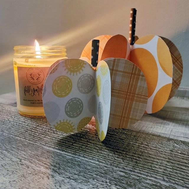 fall craft paper pumpkins