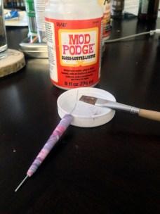 Mod Podge glue for beads