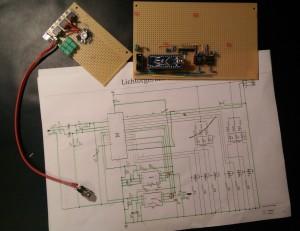 Lichtorgel Hauptplatine, LED-Treiber und Schaltplan