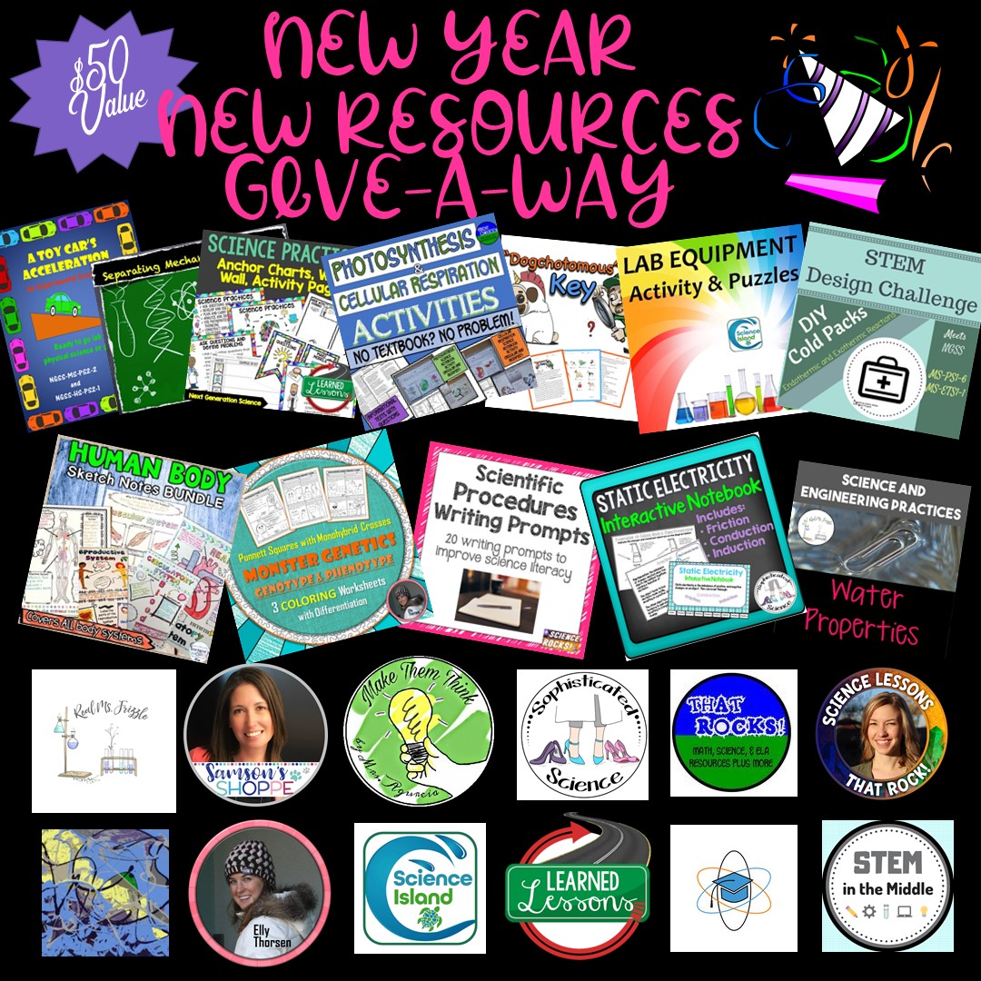 New Year New Resources Give A Way Make Them Think