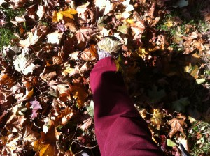 crunching leaves