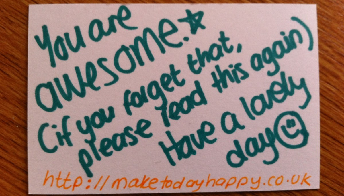 Day 78: You are AWESOME