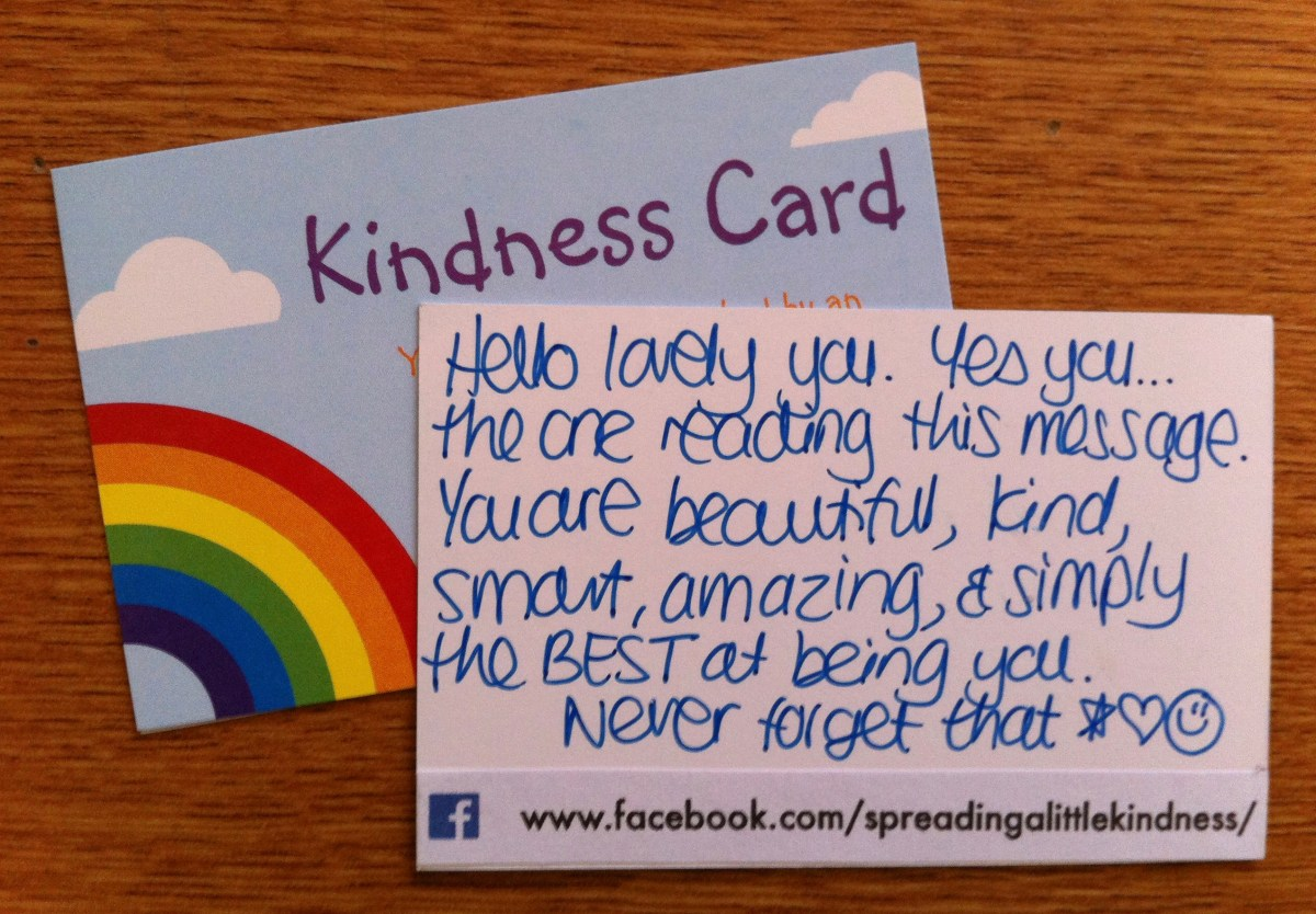 Act of kindness #13: Positive messages