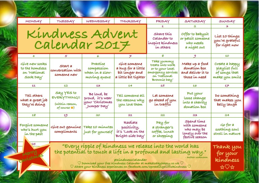 Kindness Advent Calendar 2017 copy