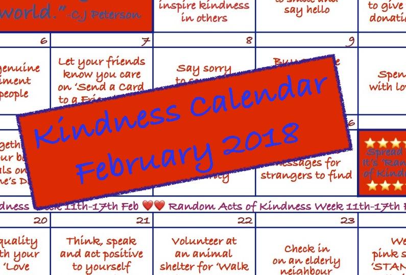 Kindness Calendar: February 2018
