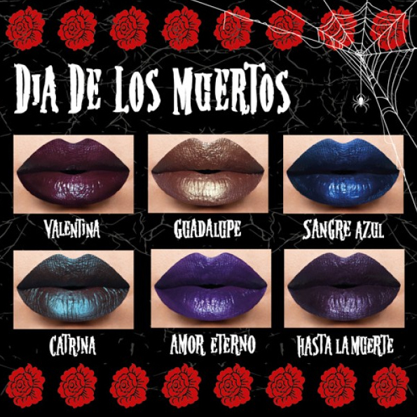 Dia De Los Muertos Metallic Matte Lipstick