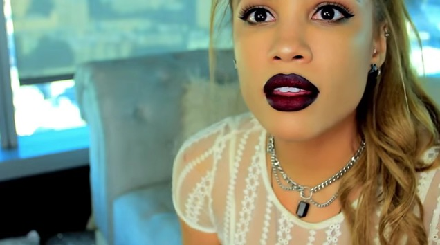 tips for wearing dark lipstick - ombre lips