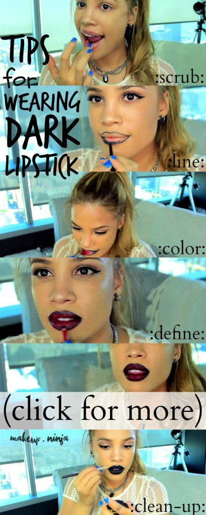 tips for wearing dark lipstick