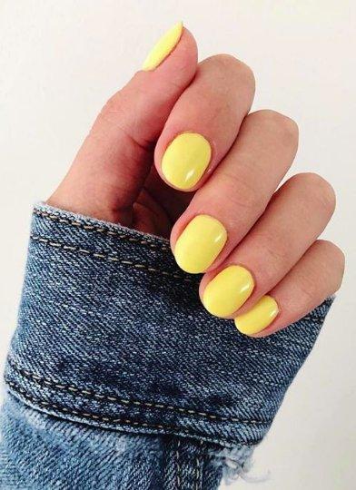 желтый лак для ногтей