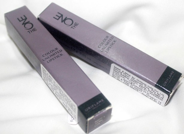 Oriflame The ONE Colour Unlimited Lipstick – (Shade – Violet Extreme & Forever Plum): Review, Swatch, LOTD