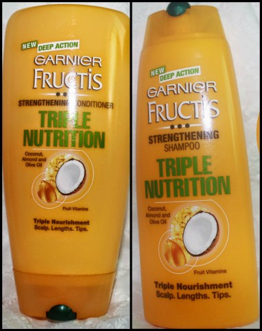My initial self-evaluation with  Garnier Fructis Triple Nutrition Shampoo and Conditioner for Happy Hair Challenge!