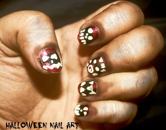 Halloween Nail Art Bloody Fangs