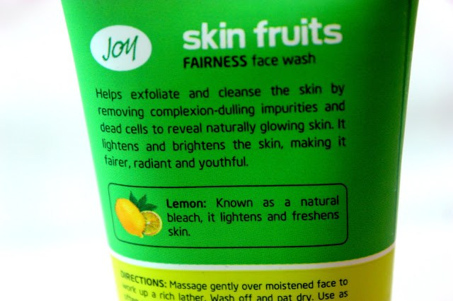 Joy Skin Fruits Fairness Face Wash Review