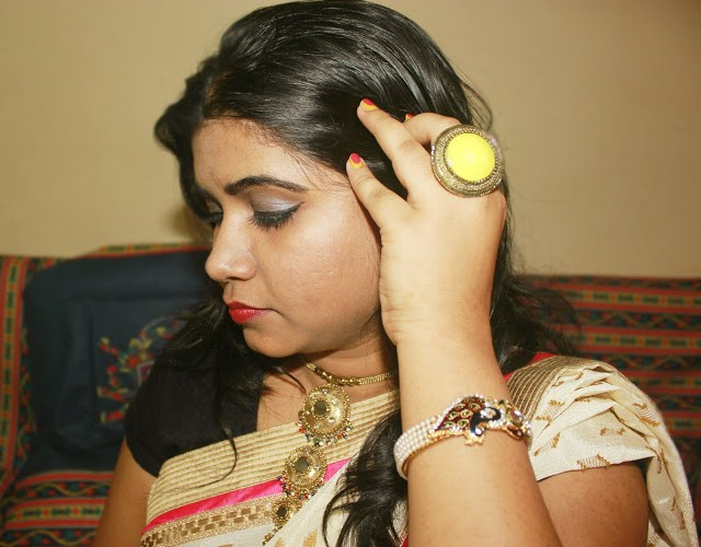 Contemporary Saree Style-OOTD Ft.Triveni