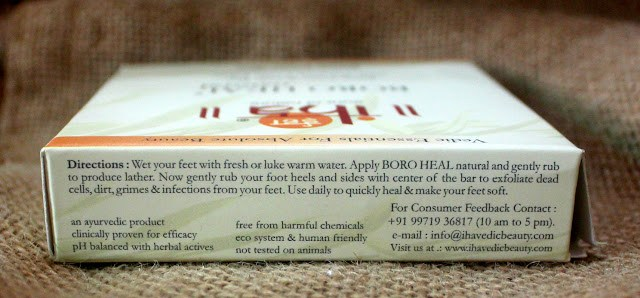 IHA Ayurvedic Footcare Boro Heal Soap With Scrub Review
