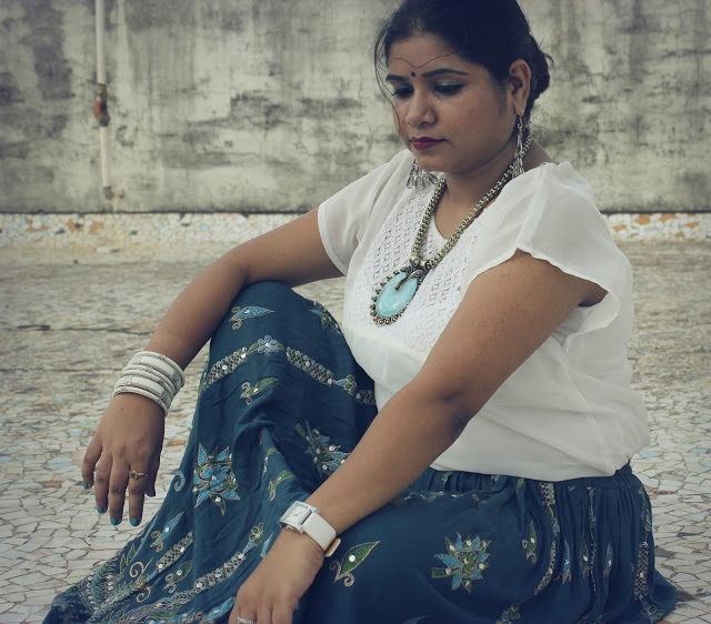 ETHNIC SKIRT: OOTD Ft. JABONG