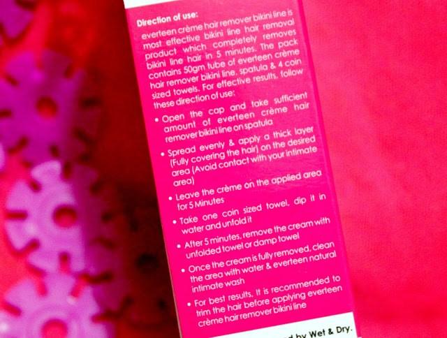 Everteen Creme Hair Remover Bikini Line Review