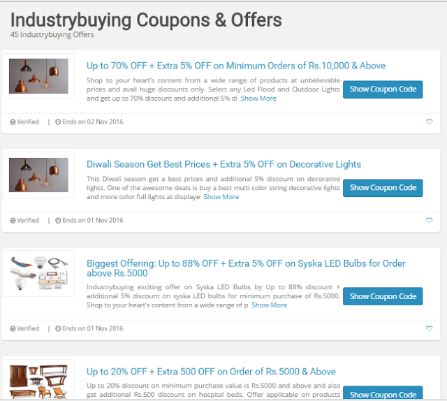 Online industrial supply coupon code