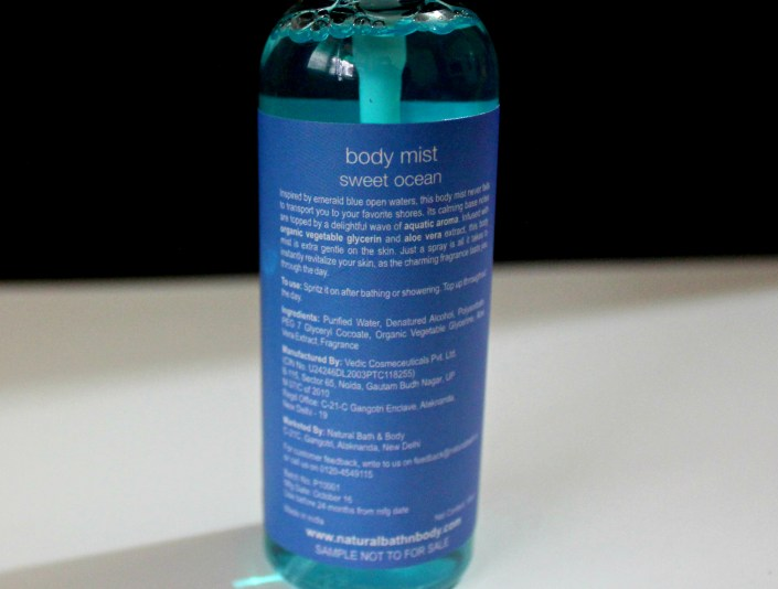 Natural Bath & Body Body Mist Sweet Ocean